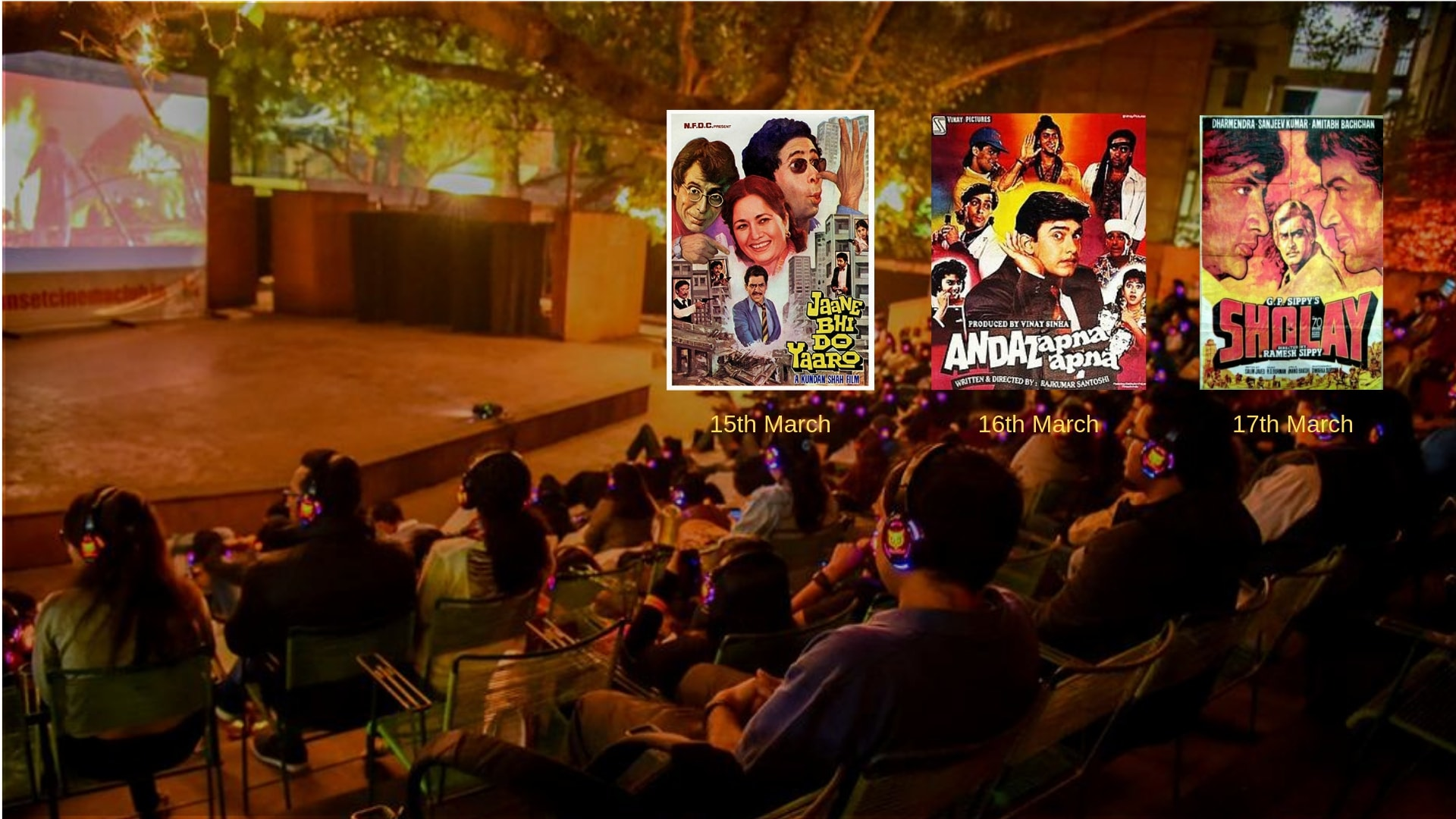 Open Air Cinema - Bollywood Cult Weekend on Fri, 15 Mar 2019